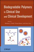 Cover image for Biodegradable Polymers in Clinical Use and Clinical Development