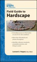 Cover image for Graphic standards field guide to hardscape