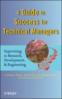 Cover image for A guide to success for technical managers : supervising in research, development, & engineering