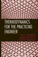 Cover image for Thermodynamics for the practicing engineer