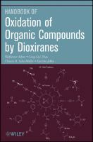 Cover image for Oxidation of organic compounds by dioxirannes