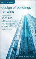 Cover image for Design of buildings for wind : a guide for ASCE 7-10 standard users and designers of special structures