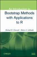 Cover image for An introduction to bootstrap methods with applications to R