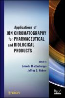 Cover image for Applications of ion chromatography for pharmaceutical and biological products