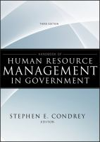 Cover image for Handbook of human resource management in government