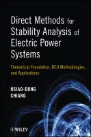 Cover image for Direct methods for stability analysis of electric power systems : theoretical foundation, BCU methodologies, and applications