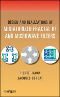 Cover image for Design and realizations of miniaturized fractal RF and microwave filters