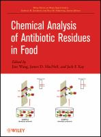 Cover image for Chemical analysis of antibiotic residues in food