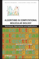 Cover image for Algorithms in computational molecular biology : techniques, approaches, and applications