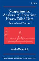 Cover image for Nonparametric analysis of univariate heavy-tailed data : research and practice