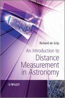 Cover image for An introduction to distance measurement in astronomy