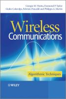 Cover image for Wireless communications : algorithmic techniques