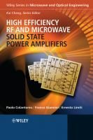 Cover image for High efficiency RF and microwave solid state power amplifiers