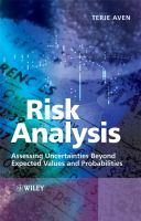 Cover image for Risk analysis : assessing uncertainties beyond expected values and probabilities