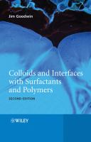 Cover image for Colloids and interfaces with surfactants and polymers