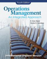 Cover image for Operations management : an integrated approach