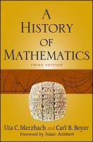 Cover image for A history of mathematics