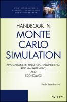 Cover image for Handbook in Monte Carlo simulation : applications in financial engineering, risk management, and economics