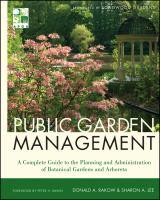 Cover image for Public garden management