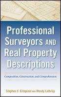 Cover image for Professional surveyors and real property descriptions : composition, construction, and comprehension