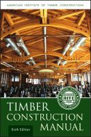 Cover image for Timber construction manual