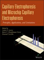 Cover image for Capillary electrophoresis and microchip capillary electrophoresis : principles, applications, and limitations