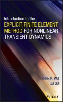 Cover image for Introduction to the explicit finite element method for nonlinear transient dynamics