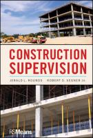 Cover image for Construction supervision