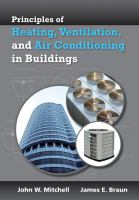 Cover image for Principles of heating, ventilation, and air conditioning in buildings