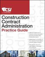 Cover image for The CSI construction contract administration practice guide
