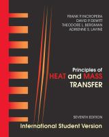 Cover image for Principles of heat and mass transfer