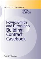 Cover image for Powell-Smith and Furmston's building contract casebook