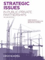Cover image for Strategic issues in public-private partnerships