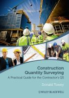 Cover image for Construction quantity surveying : a practical guide for the contractor's QS