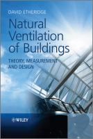 Cover image for Natural ventilation of buildings : theory, measurement and design