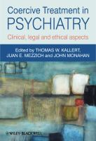 Cover image for Coercive treatment in psychiatry : clinical, legal and ethical aspects