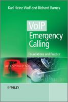 Cover image for VoIP emergency calling : foundations and practice