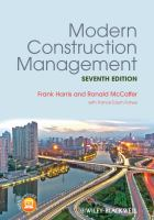 Cover image for Modern construction management