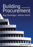 Cover image for Building procurement