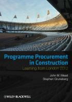 Cover image for Programme procurement in construction : learning from London, 2012