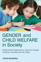 Cover image for Gender and child welfare in society