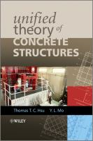 Cover image for Unified theory of concrete structures