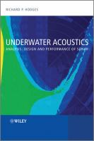 Cover image for Underwater acoustics : analysis, design, and performance of sonar