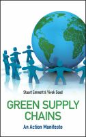 Cover image for Green supply chains : an action manifesto