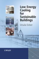 Cover image for Low energy cooling for sustainable buildings
