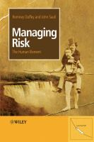 Cover image for Managing risk : the human element
