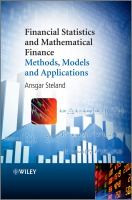 Cover image for Financial statistics and mathematical finance: methods, models and applications
