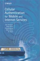 Cover image for Cellular authentication for mobile and internet services