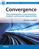 Cover image for Convergence : user expectations, communications enablers and business opportunities