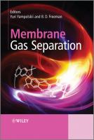 Cover image for Membrane gas separation